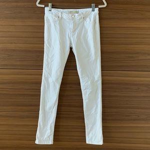 Zara Skinny White Jeans